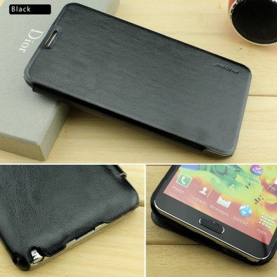 Pudini Samsung Galaxy Note 3 Leather Flip Cover Case