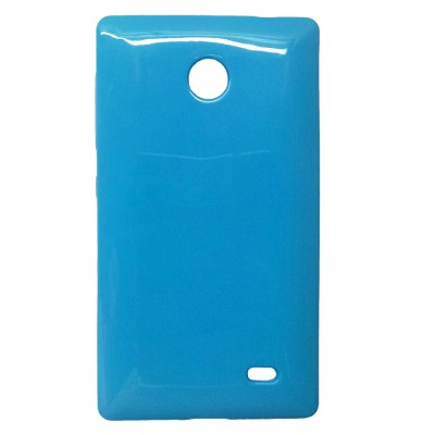 Cyan (Blue) soft case cover for Nokia X android