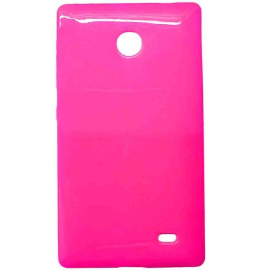 Pink soft case cover for Nokia X android