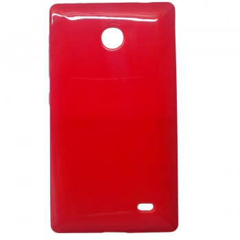 Red soft case cover for Nokia X android